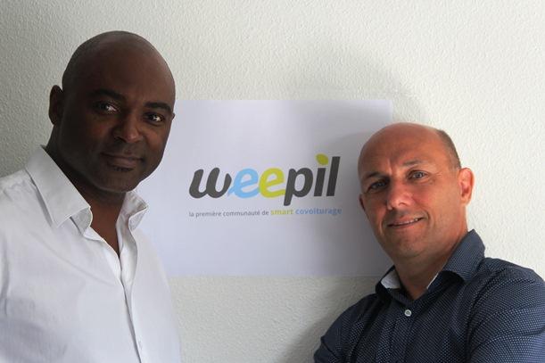 Michel Jacobin et Philippe Arzur, associés weepil.fr et papas du co-covoiturage !
