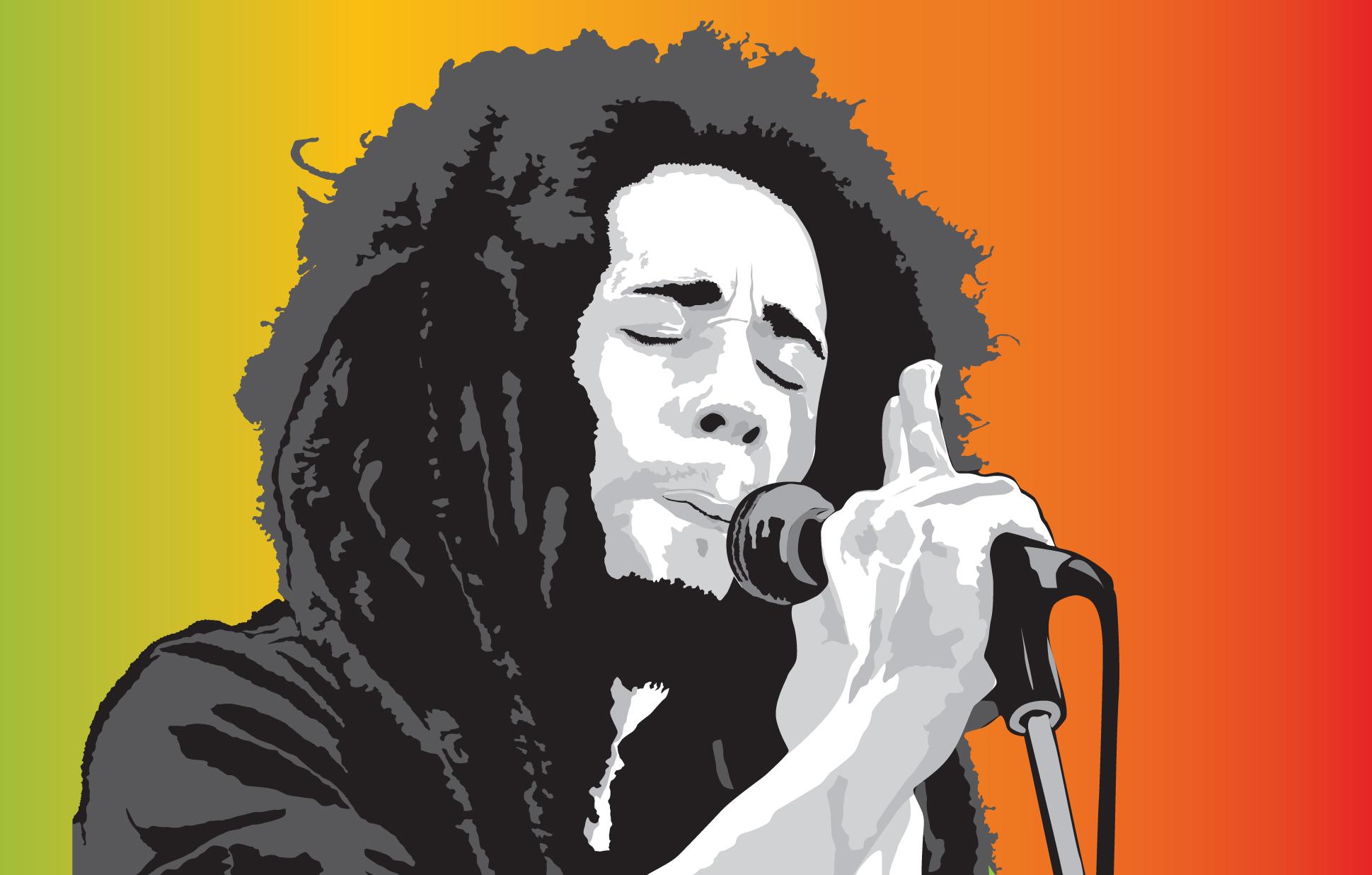 FreeVector-Bob-Marley-Vector