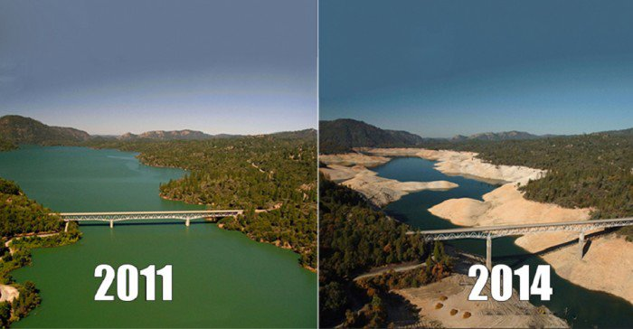 Lac-Oroville-Californie